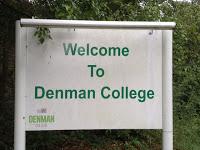Denman College sign