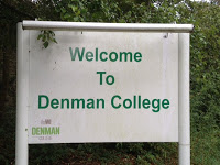 Denman College sign